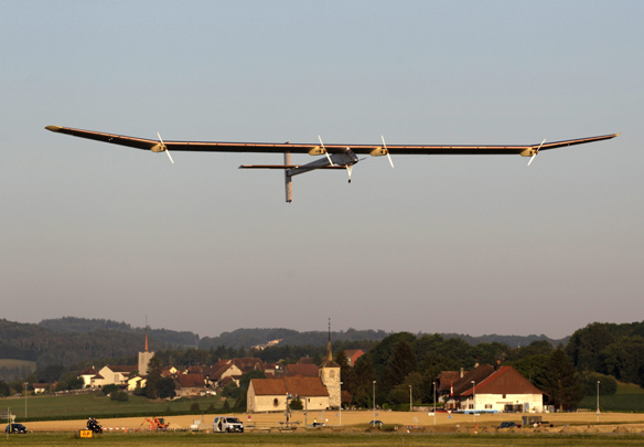 Solar plane makes 24-hour test flight