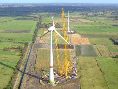 Enercon E-126 Wind Turbine installation