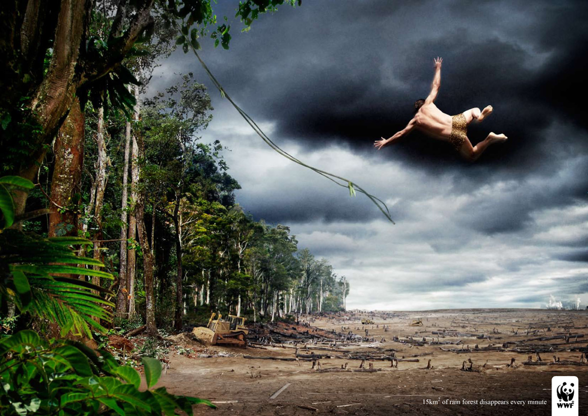 Poor Tarzan - 15 square kilometers of rain forest disappears every minute