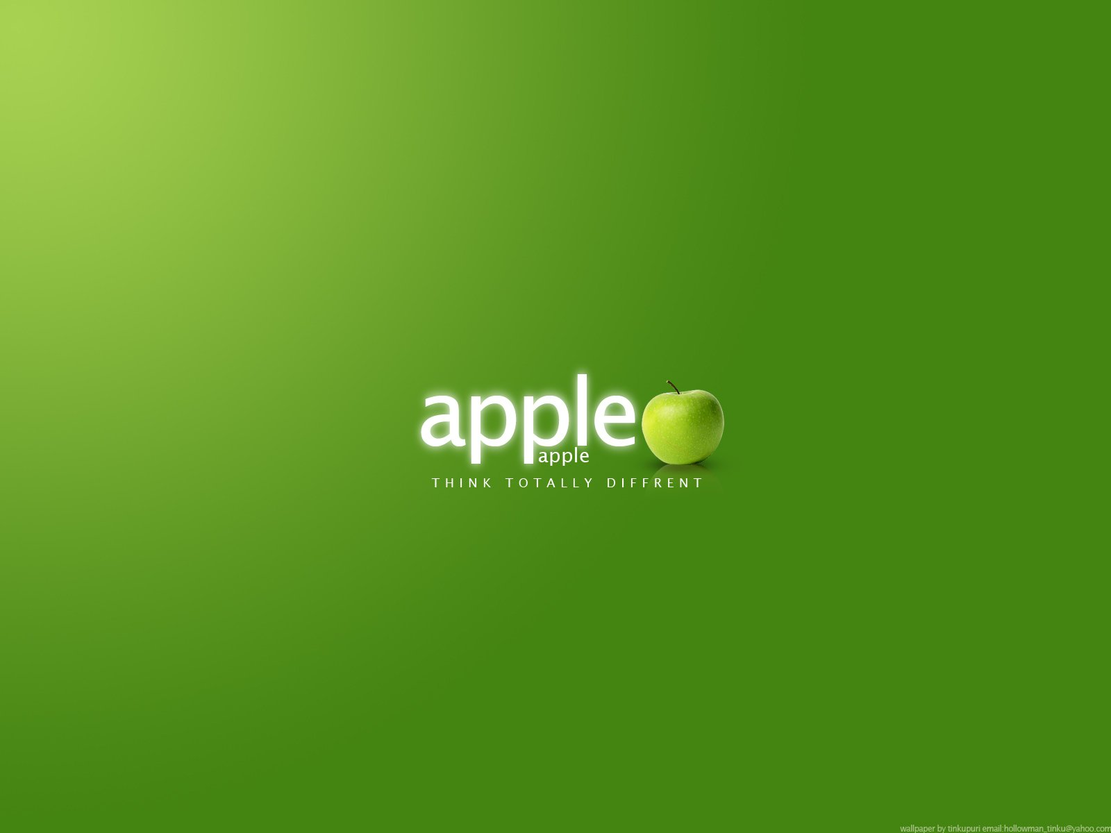 Wallpaper green background - Apple fans