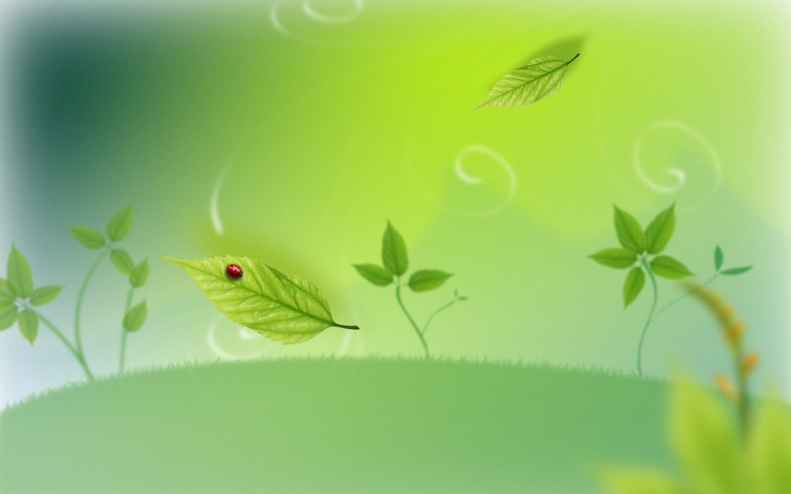 Artwork Wallpaper green background