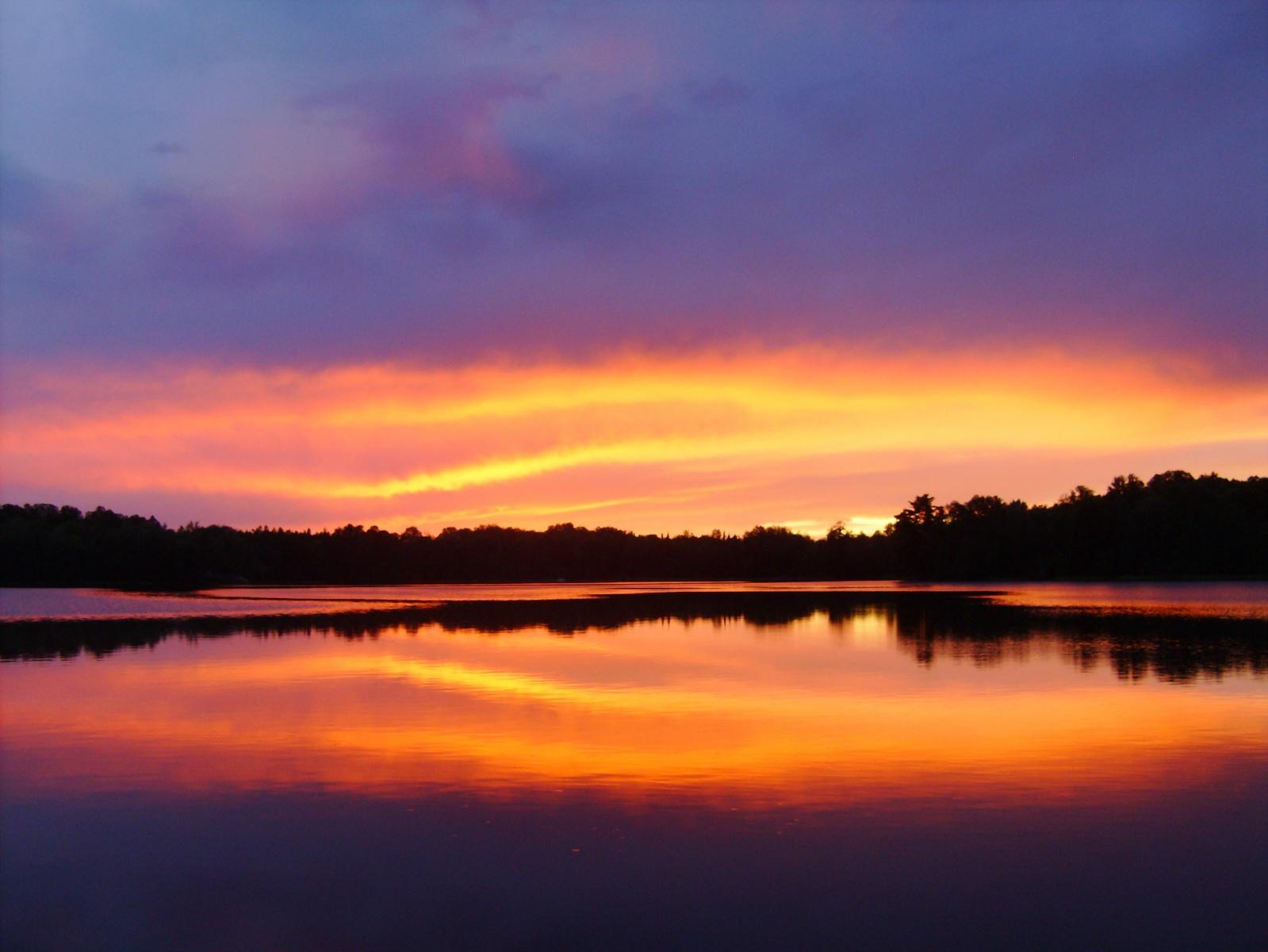 sunset over Lake Nothing